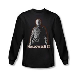 Halloween Ii - Mens Michael Myers Long Sleeve Shirt In Black