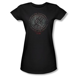 Hellboy Ii - Womens Bprd Stone T-Shirt In Black