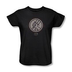 Hellboy Ii - Womens Mignola Style Logo T-Shirt In Black