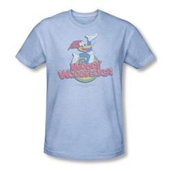 Woody Woodpecker - Mens Retro Fade T-Shirt In Light Blue