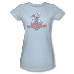 Woody Woodpecker - Womens Retro Fade T-Shirt In Light Blue