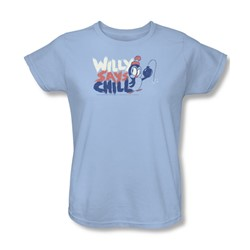 Chilly Willy - Womens I Say Chill T-Shirt In Light Blue