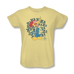 Woody Woodpecker - Womens Laugh It Up T-Shirt In Banana