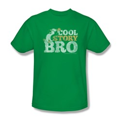 Chilly Willy - Mens Cool Story T-Shirt In Kelly Green