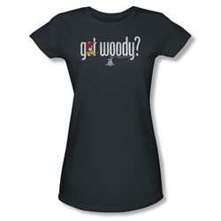 Woody Woodpecker - Womens Got Woody T-Shirt In Charcoal