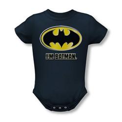 Batman - Infant I'M Batman Onesie In Navy