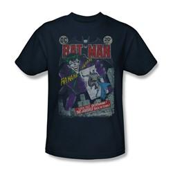 Batman - Mens #251 Distressed T-Shirt In Navy