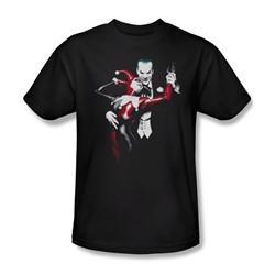 Batman - Mens Harley And Joker T-Shirt In Black
