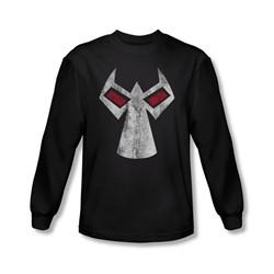 Batman - Mens Bane Mask Long Sleeve Shirt In Black