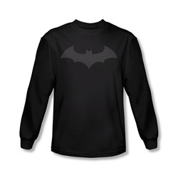 Batman - Mens Hush Logo Long Sleeve Shirt In Black