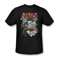 Batman - Mens Jokers Wild T-Shirt In Black