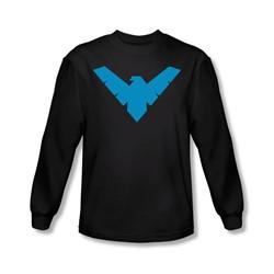 Batman - Mens Nightwing Symbol Long Sleeve Shirt In Black