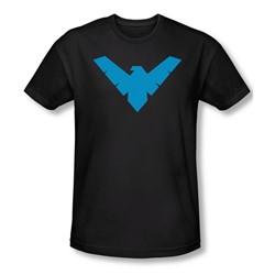 Batman - Mens Nightwing Symbol T-Shirt In Black