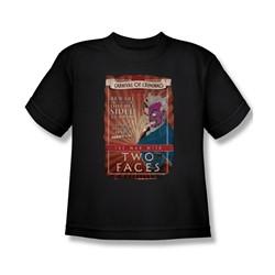 Batman - Big Boys Two Faces T-Shirt In Black