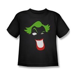 Batman - Little Boys Joker Simplified T-Shirt In Black