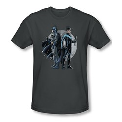 Batman - Mens Spotlight T-Shirt In Charcoal