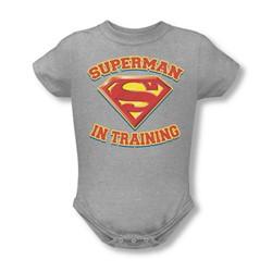 Superman - Infant Superman In Training Onesie In Heather