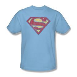 Superman - Mens Super S T-Shirt In Light Blue
