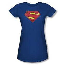 Superman - Womens New 52 Shield T-Shirt In Royal