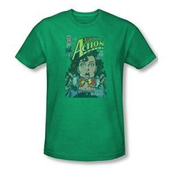 Superman - Mens Secret Revealved T-Shirt In Kelly Green