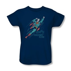 Superman - Womens Frequent Flyer T-Shirt In Navy