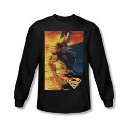Superman - Mens Fireproof Long Sleeve Shirt In Black