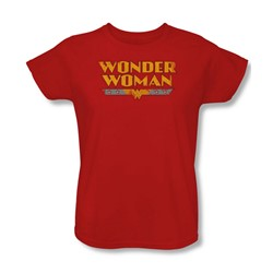 Dc Comics - Womens Wonder Woman Logo T-Shirt In Red