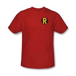 Dc Comics - Mens Robin Logo T-Shirt In Red