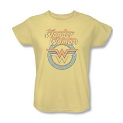 Dc Comics - Womens Faded Wonder T-Shirt In Banana
