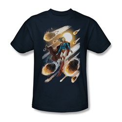 Justice League, The - Mens Supergirl #1 T-Shirt In Navy