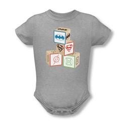Dc Comics - Infant Baby Block Onesie In Heather