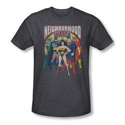 Justice League, The - Mens Neighborhood Watch T-Shirt In Charcoal