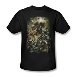 Justice League, The - Mens Aftermath T-Shirt In Black