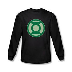 Green Lantern - Mens Green Symbol Long Sleeve Shirt In Black