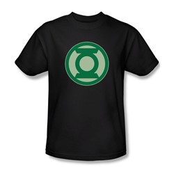Green Lantern - Mens Green Symbol T-Shirt In Black