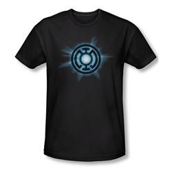 Green Lantern - Mens Blue Glow T-Shirt In Black