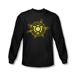 Green Lantern - Mens Yellow Glow Long Sleeve Shirt In Black