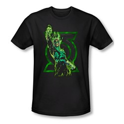 Green Lantern - Mens Fully Charged T-Shirt In Black