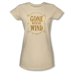 Gone With The Wind - Womens Logo T-Shirt In Cream