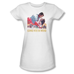 Gone With The Wind - Womens On Fire T-Shirt In White