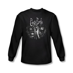 Corpse Bride - Mens Bride To Be Long Sleeve Shirt In Black