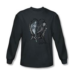 Corpse Bride - Mens Runaway Groom Long Sleeve Shirt In Charcoal