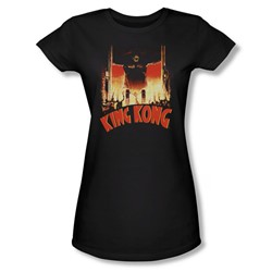 King Kong - Womens At The Gates T-Shirt In Black