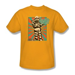 Forbidden Planet - Mens Oil Job T-Shirt In Gold