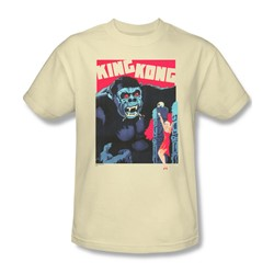 King Kong - Mens Bright Poster T-Shirt In Cream