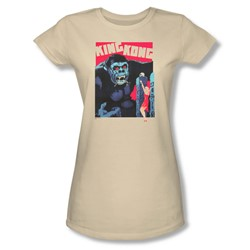 King Kong - Womens Bright Poster T-Shirt In Cream