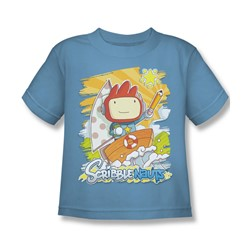 Scribblenauts - Little Boys Scribble On T-Shirt In Carolina Blue