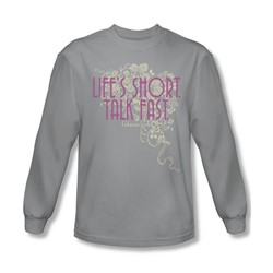 Gilmore Girls - Mens Lifes Short Long Sleeve Shirt In Silver