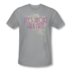 Gilmore Girls - Mens Lifes Short T-Shirt In Silver