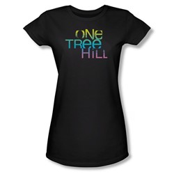 One Tree Hill - Womens Color Blend Logo T-Shirt In Black